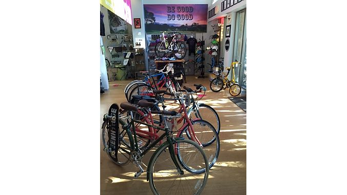 The Spoke Easy carries an eclectic mix of city, 'cross, mountain and BMX bikes, as well as a full offering of urban accessories including locks, fenders, blinky lights, bells and racks.