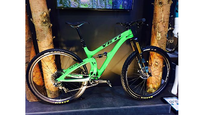Yeti's newest trail bike, the SB4.5c, is built around 29-inch wheels and is available in a variety of builds to suit different riding styles.