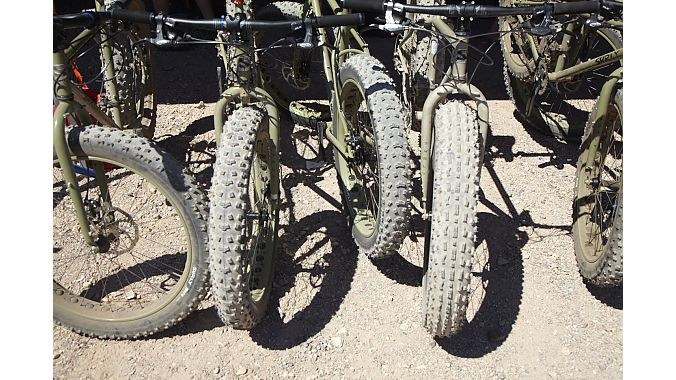 Fat bikes were all the rage at the demo, although some retailers were still skeptical about selling them.