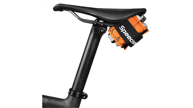 The new small carbon Seatsleev in high vis orange.
