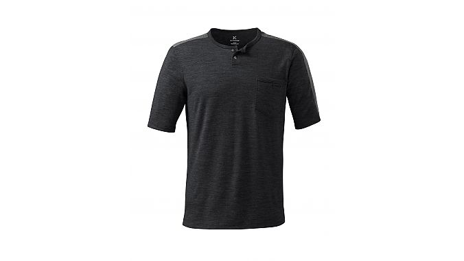 The Ride Tee in Charcoal Heather.