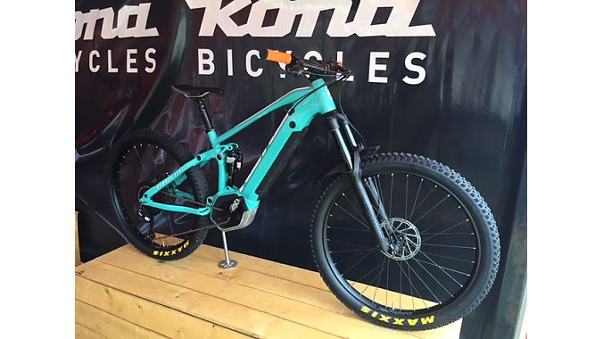The Remote Ctrl is Kona's first full-suspension e-mountain bike.