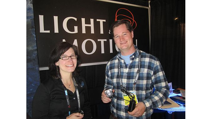 Light & Motion's Amy Mack Fabry and Ryan White said the company is slowly making inroads into the outdoor market with its high-lumen line of headlamps.