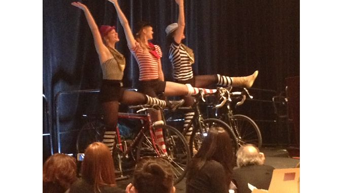 The New York City Bike Dancers kick up the afternoon proceedings.
