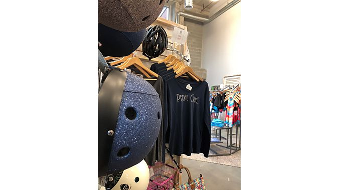 Pedal Chic carries a wide selection of women's cycling apparel and house-branded merchandise.