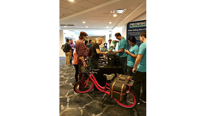 Dealers checked out new accessories from Pedego.