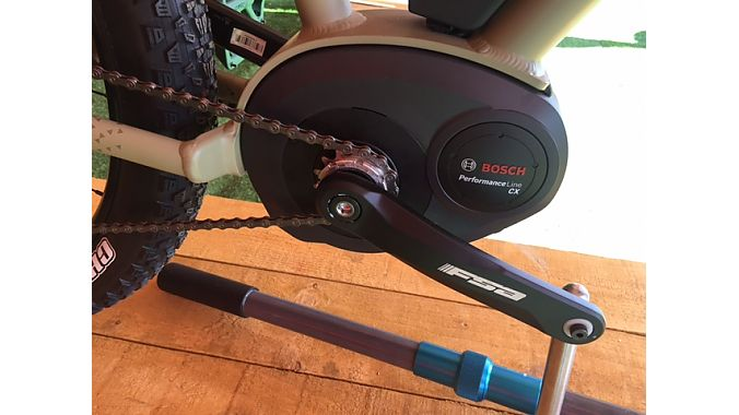 The Remote e-MTB is powered by a Bosch Line CX mid-drive motor.