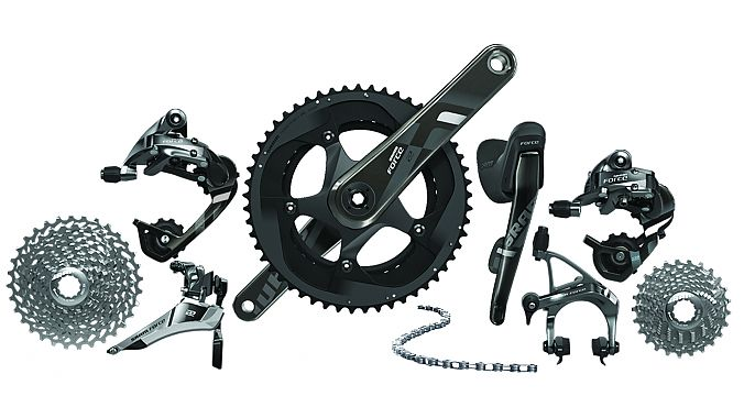 The SRAM Force 22 group does not have the hydraulic brake options
