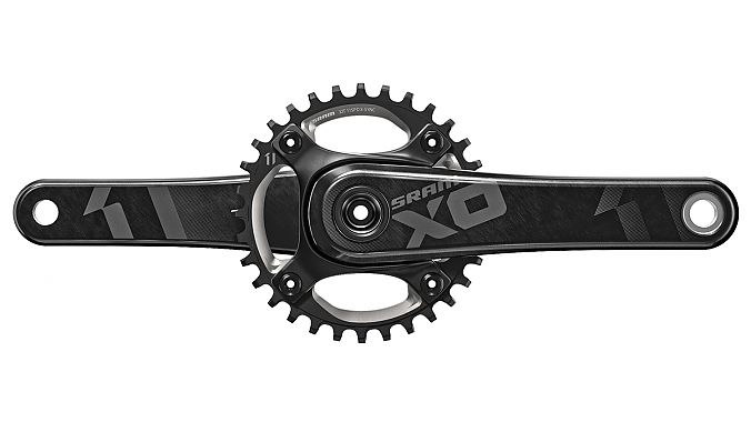 The XO1 rear derailleur in black