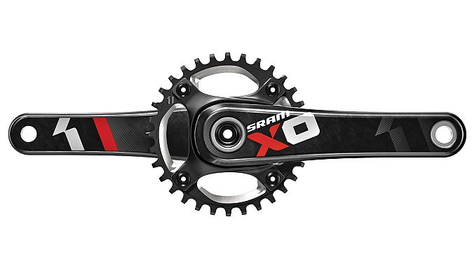 The XO1 crank in red
