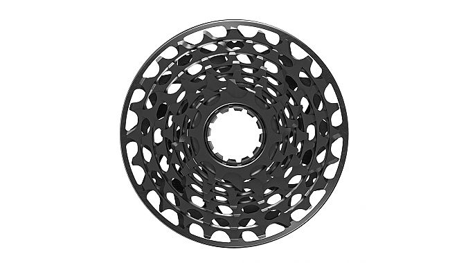 The 7-speed cassette is said to be the lightest ever, at 136 grams.