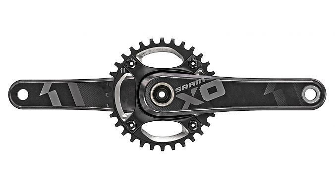 The XO1 DH crank in black.