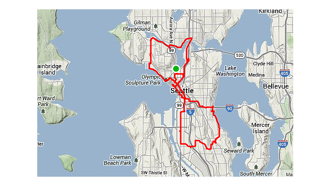 The Dealer Tour included 36 miles of riding on its first day, according to Strava.