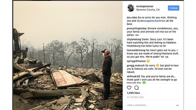 Leipheimer at his former house in Santa Rosa, from his Instagram feed.