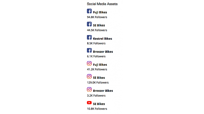 ASE's social media assets. Source: Hilco Streambank.