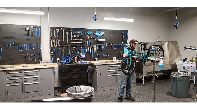 Pro Cycling's new location has a full-service repair department.