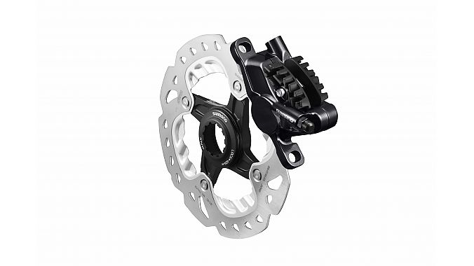 Shimano's redesigned hydraulic road caliper.