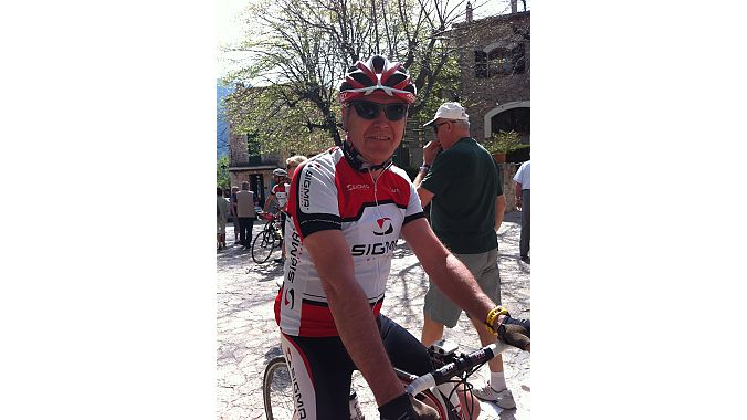 Sigma Sport founder Klaus Schendel joined media on a ride in Mallorca. Schendel started the company in 1978 and remains involved today though he's semi-retired. He's an avid cyclist who spends half the year on this Spanish island riding his bike.