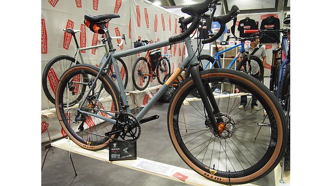 """Soulcraft's Sean Walling designed this bike around WTB's new """"Road Plus"""" horizon 650b wheel concept, which delivers the same overall wheel diameter as a 700c wheels thanks to a 47-millimeter-wide tire."""