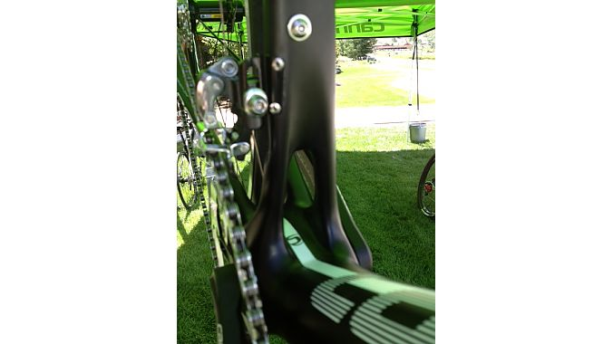 "The Synapse's ""Power Pyramid"" seat tube juncture"