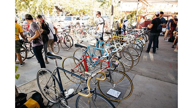 The Cub House hosted a grand opening party and bike show in October, featuring an array of vintage bikes on display. Photo credit: The Radavist