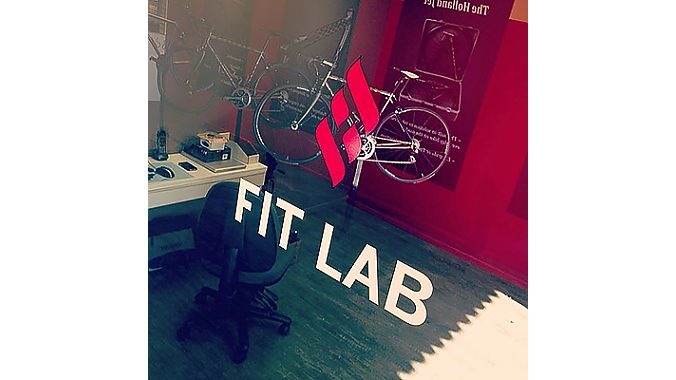 The fit studio at Holland Cycles' new showroom.