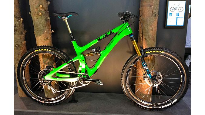 The new SB6c was front and center in Yeti's booth at Eurobike.