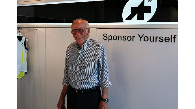 Assos founder Toni Maier-Moussa at the Lugano store. He is third generation in the bike industry and his son and daughter now run the company.