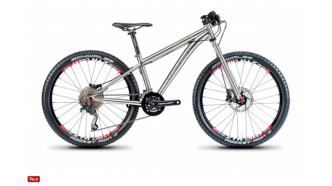 Trailcraft's $2,700 Ti Pineridge 24 Pro mountain bike is outfitted with a rigid titanium fork, Shimano XT 1-by 11-42 cassette and Stan's NoTubes wheels.