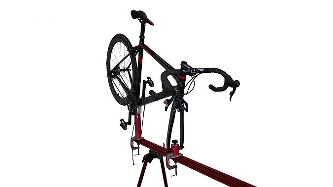 The VeloVise shown with optional workstand.