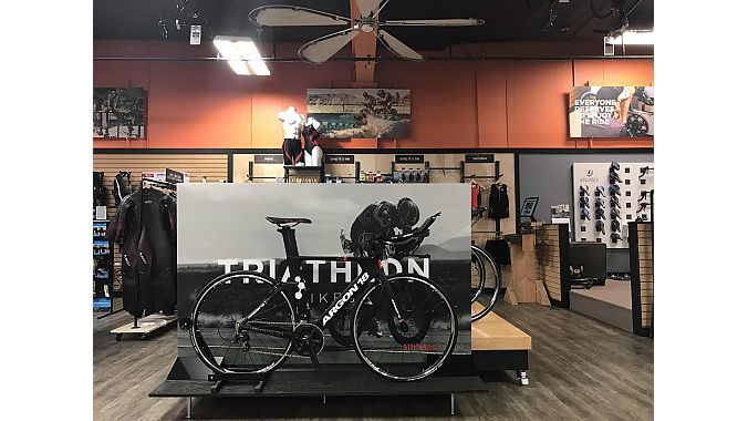 3 Dots Design also created an area for triathlon bikes, apparel and accessories.
