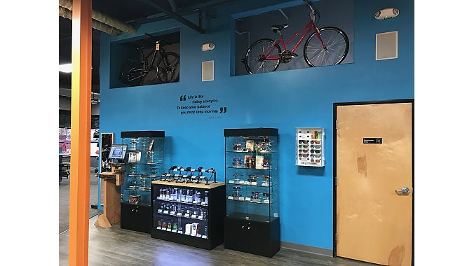 Accent walls were used to make product stand out in the 10,000 square foot store