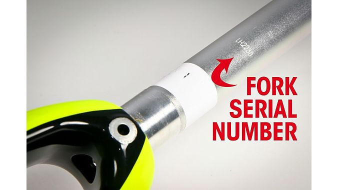 Locating the serial number on the Wilier Triestina fork