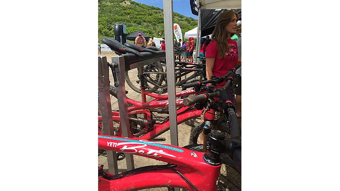 The Yeti demo truck had a full fleet of Yeti Betis for consumers to ride at the Beti Bike Bash.