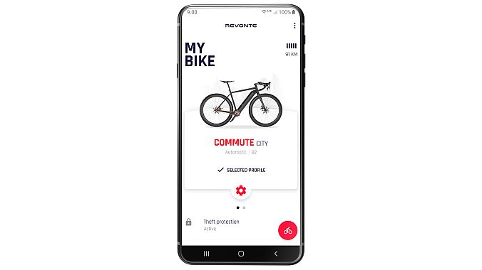 Users can program profiles for riding off-road and commuting.