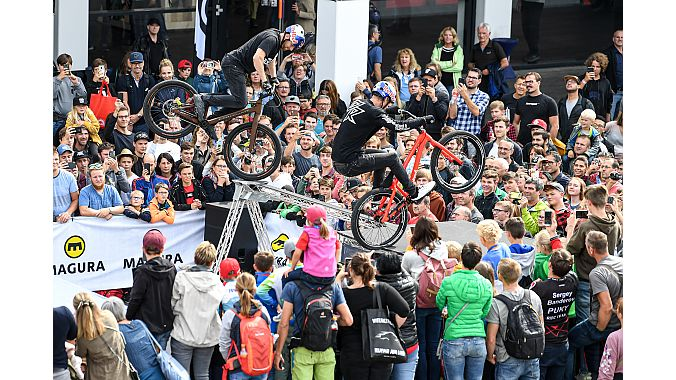Festival Day featured the Dirt Jump Contest. Photo courtesy Eurobike Friedrichshafen.
