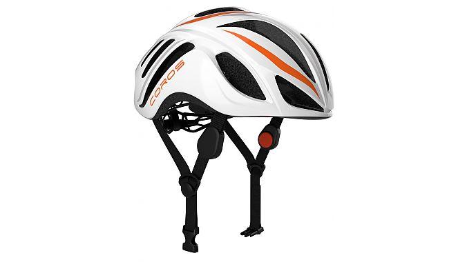 The Coros Linx Smart helmet.