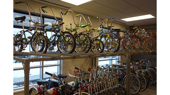 Part of the Schwinn bike collection at Park Tool, which started as a Schwinn retailer in St. Paul.