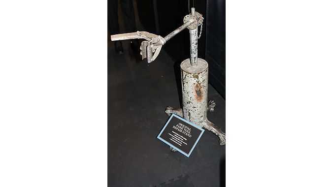 Park Tool's original repair stand was built in 1958 using kitchen table legs, a World War II shell casing filled with concrete and a 1937 Ford truck axle. The company is celebrating its 50th anniversary in 2013.