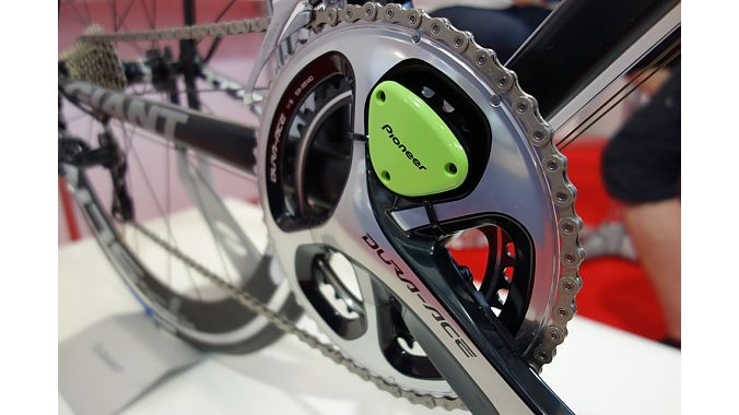 Pioneer showed its crank based power meter, first seen here last year.