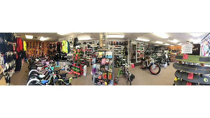 Salem Cycle is 2,000 square feet.