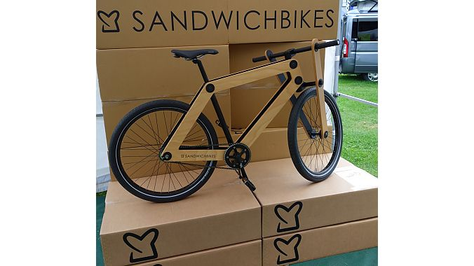 The Sandwich Bike is the Flat Stanley of bicycles. It's made of beech plywood and shipped disassembled, like a piece of IKEA furniture. It's coming to the U.S. in 2014, the company said.