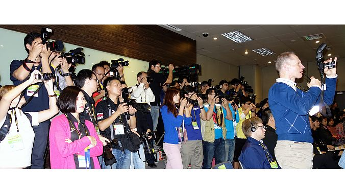 The media at Wednesday's opening ceremony