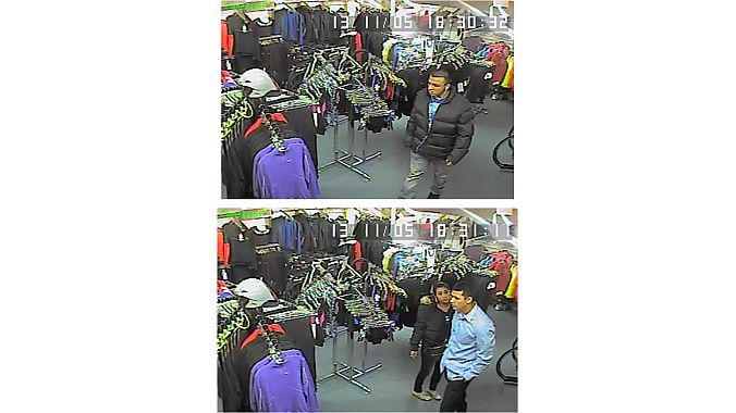Security camera footage of alleged thieves at Danny's Cycles' Stamford location
