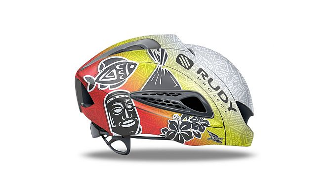 The Tiki Kona Boost 01 helmet.