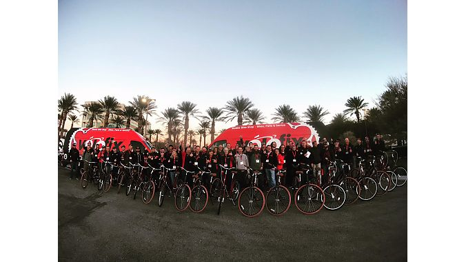 The group built 20 Priority bikes bikes for kids at the Andre Agassi Boys & Girls Club of Las Vegas, through the Wish for Wheels program.
