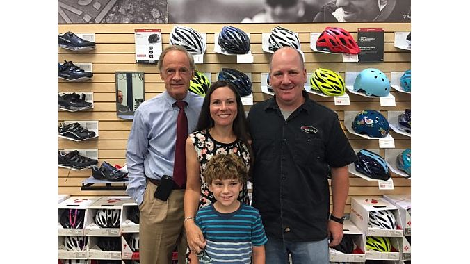 Sen. Tom Carper at Bike Line in Dover, Delaware.