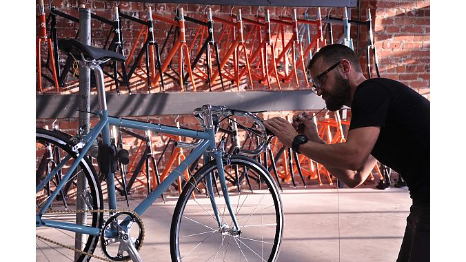 Wabi's line of fixie and geared urban bikes are manufactured in Taiwan and assembled to order in Tulsa.