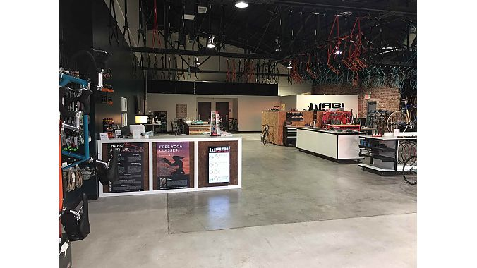 Wabi Cycles is located in the Brady Arts District in downtown Tulsa in a renovated 100-year old warehouse.