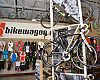 BikeWagon's showroom resembles a trade show booth.